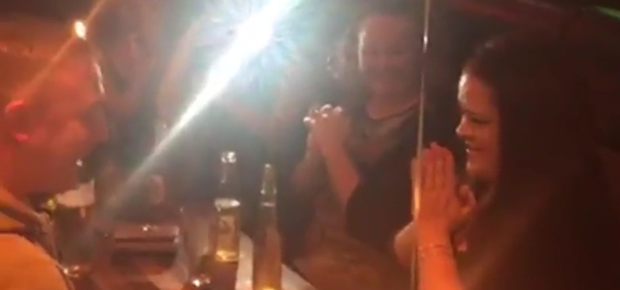 James O'Brien proposed to his girlfriend Eimer O'Leary in Rearden's Bar