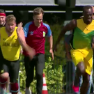 James Corden racing Usain Bolt. Image: The Late Late Show/CBS
