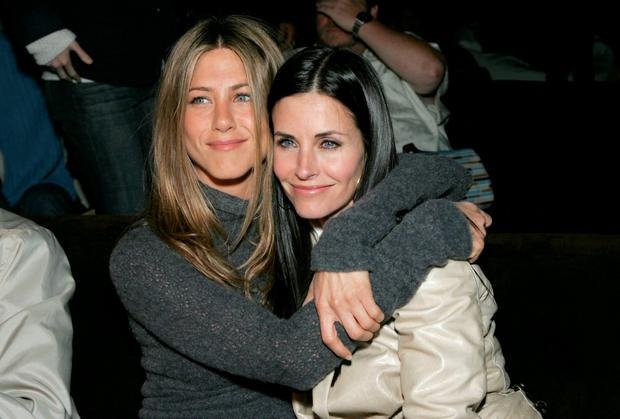 Actors Jennifer Aniston and Courteney Cox attend the after party at the L.A. premiere for
