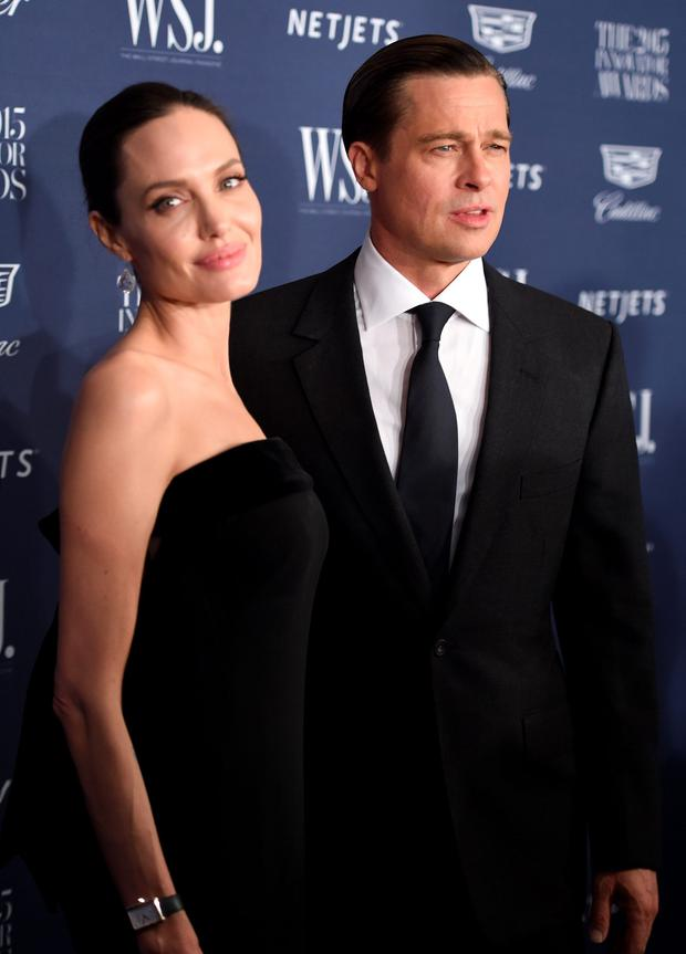 2015 Entertainment Innovator Angelina Jolie Pitt (R) and Brad Pitt attend the WSJ. Magazine 2015 Innovator Awards at the Museum of Modern Art on November 4, 2015 in New York