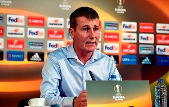 Manager of Dundalk Stephen Kenny in attendance during a Dundalk Press Conference at Tallaght Stadium in Dublin. Photo by David Maher/Sportsfile