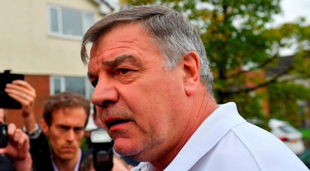 Sam Allardyce at his home in Bolton today.