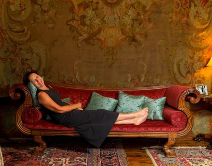 Fiona relaxes at Huntington Castle. Photo: Patrick Browne