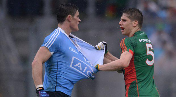 Lee Keegan and Diarmuid Connolly will lock horns again today