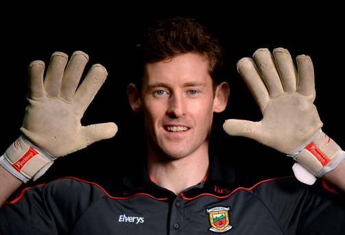 David Clarke has taken his chance between the Mayo posts with both hands. Photo: Sportsfile
