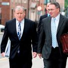 Left, Brendan McDonagh CEO of Nama with Ronnie Hanna. Photo: Tom Burke