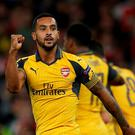 Arsenal's Theo Walcott celebrates scoring their first goal Action Images via Reuters / Andrew Couldridge