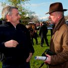 In happier times: Michael O'Leary and Willie Mullins after a win by Sir Des Champs in 2012. Photo: Damien Eagers