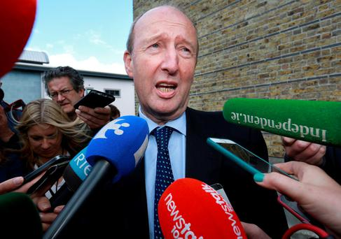 Shane Ross: strained meeting. Photo: Frank McGrath