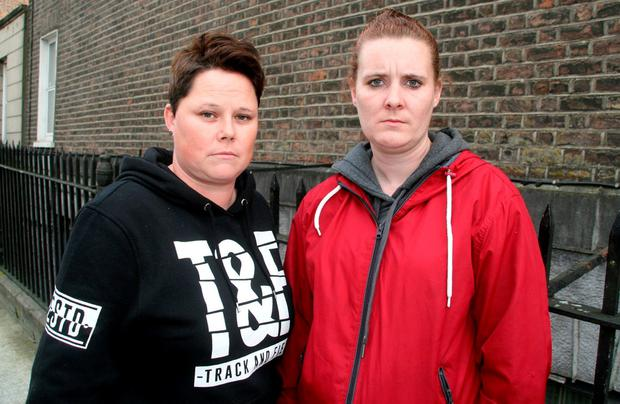 Emergency case: married couple Dawn (31) and Lisa (32) O'Driscoll suffered attacks and threats. Photo: Press 22