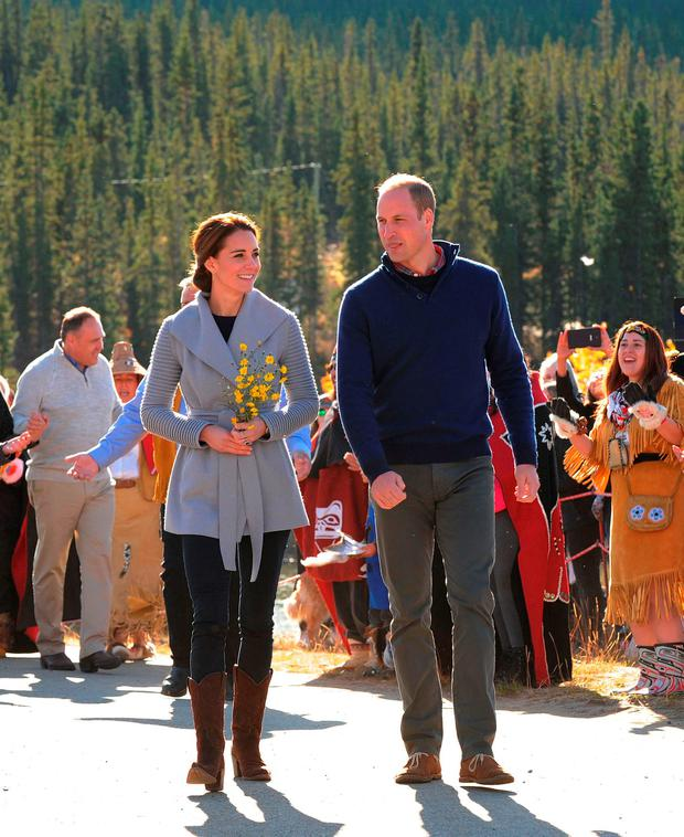 The Duke and Duchess of Cambridge visit Carcross, Canada, on the fifth day of the Royal Tour to Canada.