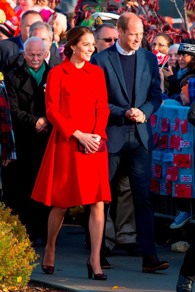 The Duke and Duchess of Cambridge during a walkabout at the Main Street party in Whitehorse, Canada, on the fifth day of the Royal Tour to Canada.