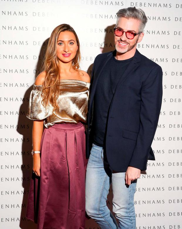 Pictured are Nicky Dunne and Dillon St.Paul as Debenhams showcased their AW16 collection in the stunning back drop of Christ Church Catherdral. Pic: Marc O'Sullivan