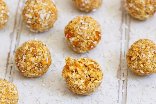 Mango coconut energy balls from Indy Power