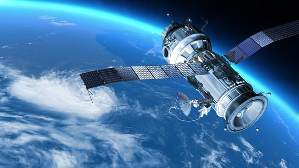 Space Station travels in orbit around Earth.