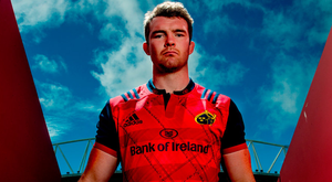 Peter O'Mahony at the launch of the new Munster European jersey which is exclusively available at Life Style Sports. Photo: Sam Barnes/Sportsfile