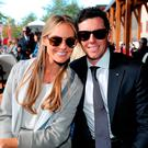Erica Stoll and Rory McIlroy of Europe attend the 2016 Ryder Cup Opening Ceremony at Hazeltine National Golf Club on September 29, 2016 in Chaska, Minnesota. (Photo by David Cannon/Getty Images)