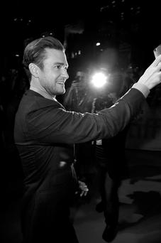 Tour de force: Timberlake at the première of his concert film, which was made by The Silence of the Lambs director Jonathan Demme