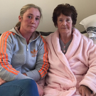 Christine pictured with her daughter Tina after surgery to remove the tumour