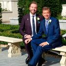 Photo of Karl Broderick and Alan Hughes taken on their wedding. Picture taken by Karl's sister Ann.