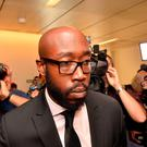 US-rapper Freddie Gibbs arrives for the start of his trial on September 30, 2016, in Vienna, Austria. HERBERT PFARRHOFER / Austria