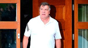 Former England manager Sam Allardyce leaves his family home on Wednesday. Photo: Dave Thompson/Getty Images