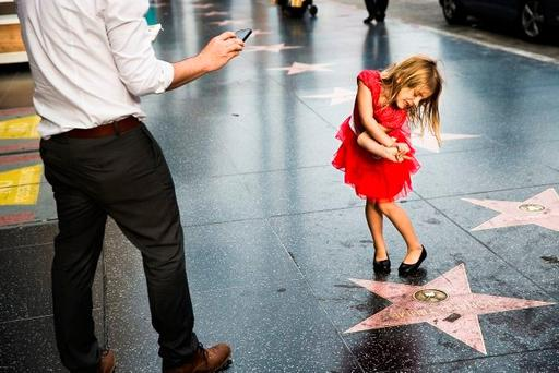 Reaction to Trump's star. Photo: Kenneth O'Halloran