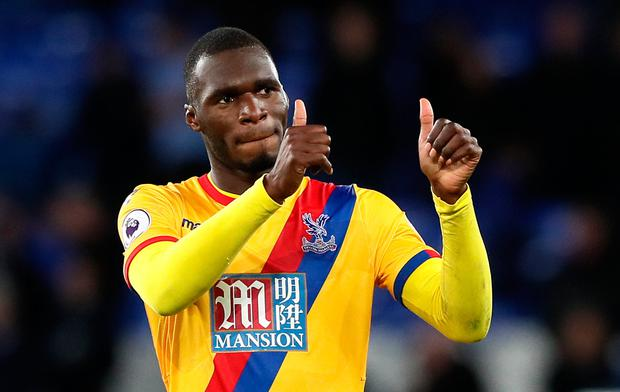 Christian Benteke scored Crystal Palace's equaliser against Everton last night