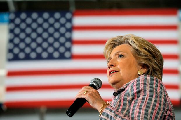 U.S. Democratic presidential nominee Hillary Clinton speaks at a campaign rally in Coral Springs, Florida, U.S. September 30, 2016
