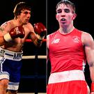 Mike Towell sadly passed away and (right) Michael Conlan