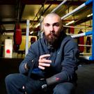 Scottish boxer Mike Towell was knocked out in the fifth round of a fight with Welshman Dale Evan