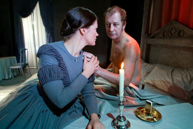Stephen with actress Dawn Bradfield in the Gate production of 'Jane Eyre'. Photo: Julien Behal