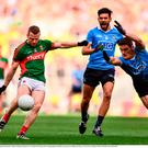 Colm Boyle of Mayo in action against Diarmuid Connolly