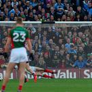 Diarmuid Connolly scores a penalty in the All Ireland final. Photo: Kyran O'Brien