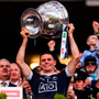 Stephen Cluxton of Dublin lifts the Sam Maguire trophy