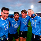 Dublin's, from left, Michael Darragh Macauley, Cian O'Sullivan, Michael Fitzsimons and Eoghan O'Gara celebrate