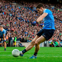 1 October 2016; Diarmuid Connolly of Dublin scores a goal from the penalty spot during the GAA Football All-Ireland Senior Championship Final Replay match between Dublin and Mayo at Croke Park in Dublin. Photo by David Maher/Sportsfile