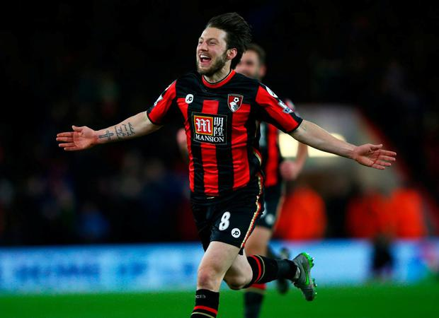 'Harry Arter has relished a greater responsibility at Bournemouth, offering Ireland more subtlety of passing in midfield'. Photo: Ian Walton/Getty Images