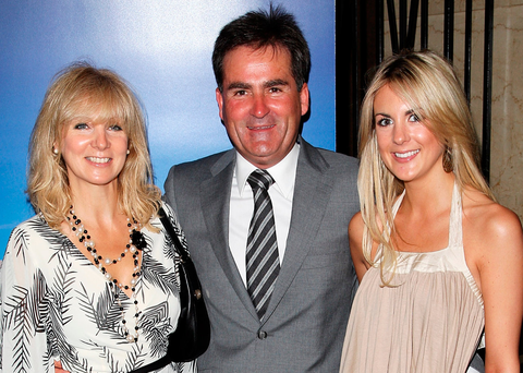 Happier times: Former Sky Sports presenter Richard Keys with his wife Julia and daughter Jemma Photo: Dave Hogan/Getty Images