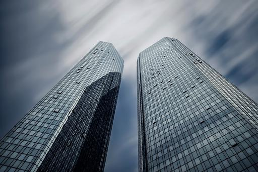 High-rise buildings of Deutsche Bank, Frankfurt, Germany. Photo: Getty