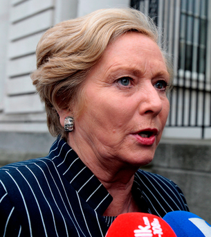 Lady-in-waiting: Key adviser says Frances Fitzgerald won't do anything that is seen as disloyal to Enda Kenny Photo: Tom Burke