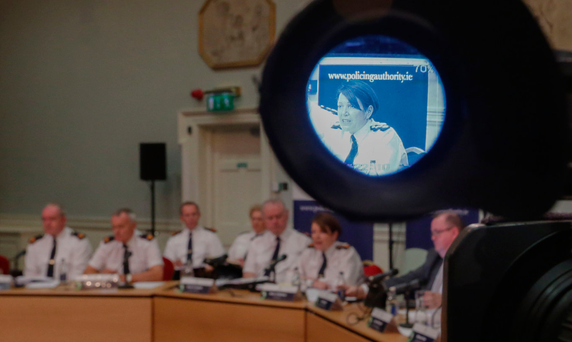 Quizzed: Garda Commissioner Noirin O'Sullivan pictured at a public meeting of the Policing Authority at Dublin Castle. Photo: Laura Hutton/Collins