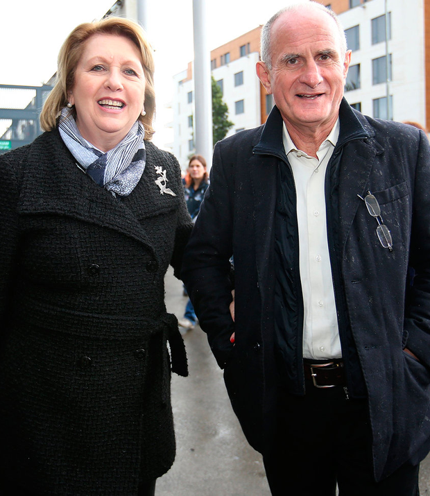 Former President Mary McAleese with her husband Martin Photo: Frank Mc Grath