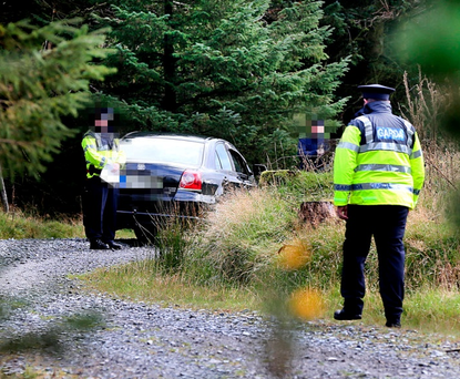 Grim find:The area where the man's body was found