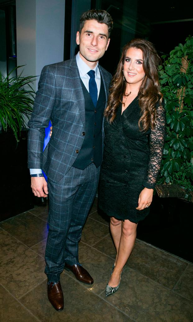 Bernard Brogan and fiancée Keira Doyle at the Dublin All Ireland Celebration Banquet at The Gibson Hotel