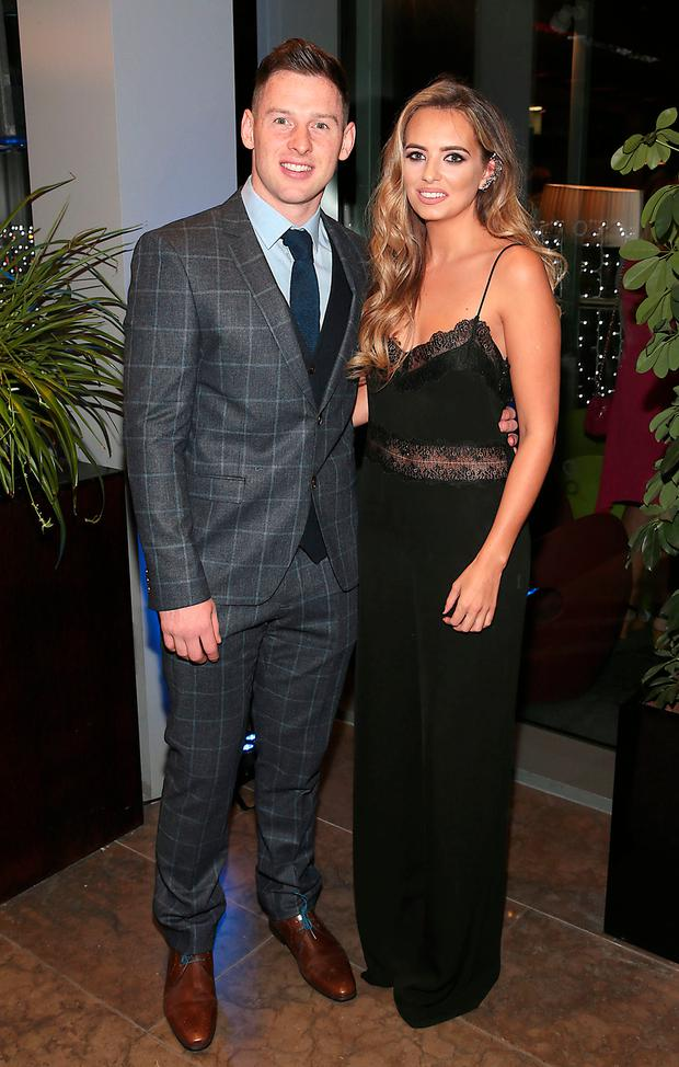 Philly McMahon and Sarah Lacey at Dublin's All Ireland Football celebration dinner at the gibson Hotel. Picture: Brian McEvoy