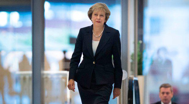 Prime Minister Theresa May arrives at BBC studios in Birmingham to take part in the Andrew Marr show before the start of the Conservative party conference