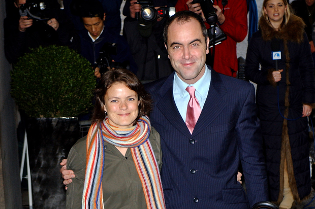 Actor James Nesbitt and his wife Sonia arrive for the South Bank Show Awards at the Savoy Hotel January 21, 2003 in London. (Photo by John Li/Getty Images)