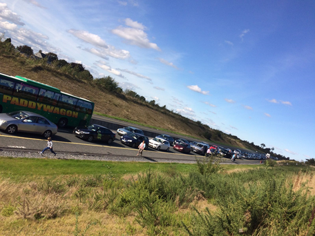 The scene on the M9 this afternoon. Photo: Emma Norton-Sheridan