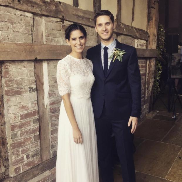 YouTube star Lily Pebbles on her wedding day. Picture: Twitter/Lily Pebbles